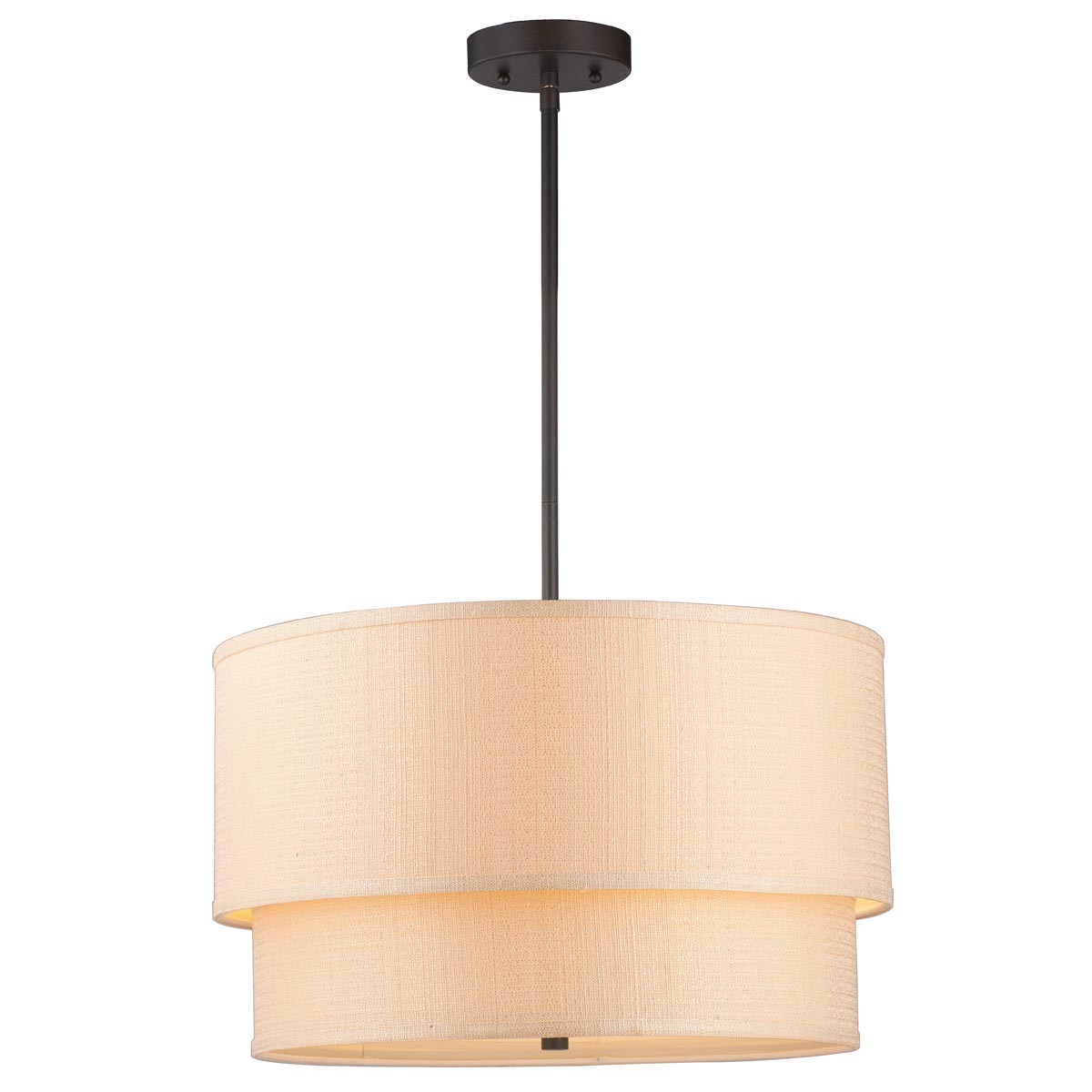 Double Drum Light Fixture