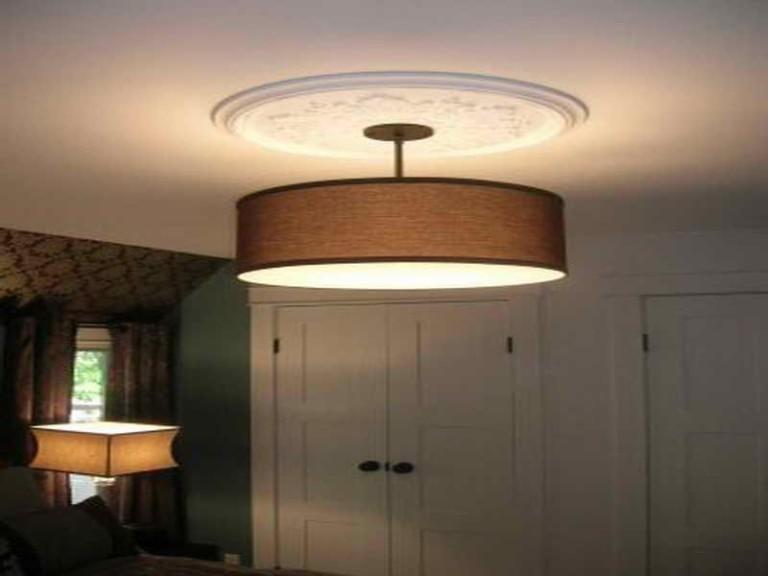 Drum Shade Ceiling Light Fixtures