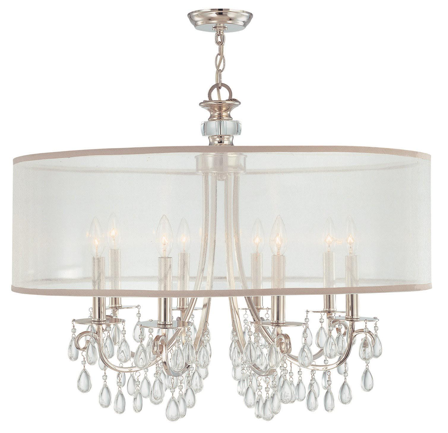 Drum Shade Crystal Chandelier