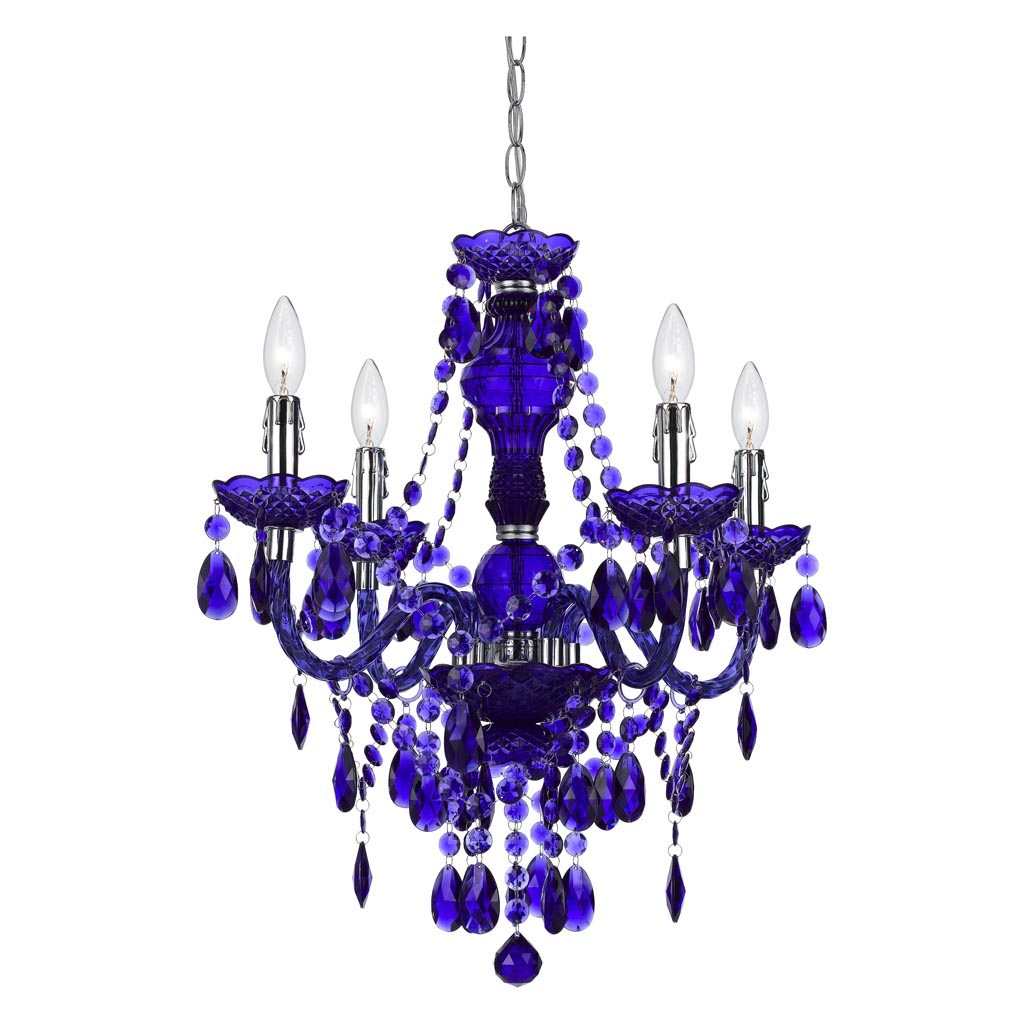 Blue Glass Living Room Chandelier