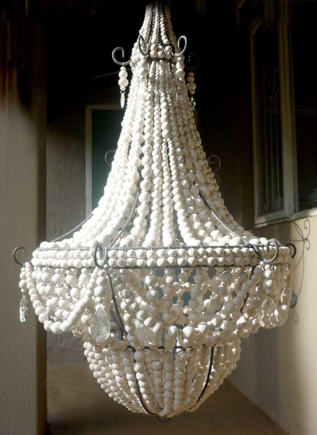 elena wood bead chandelier light fixtures design ideas. Black Bedroom Furniture Sets. Home Design Ideas