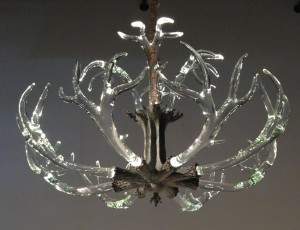 Fake Deer Antler Chandelier