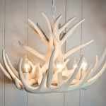 Faux Deer Antler Chandelier