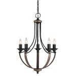 Faux Pillar Candle Chandelier