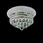 Flush Mount Mini Crystal Chandelier