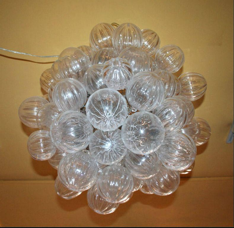 Charming Lightness Of A Glass Bubble Chandelier Light
