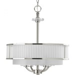 Glass Drum Shade Chandelier
