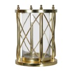 Gold Hurricane Candle Holders