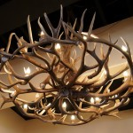 Homemade Deer Antler Chandelier