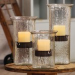 Hurricane Glass Candle Holders