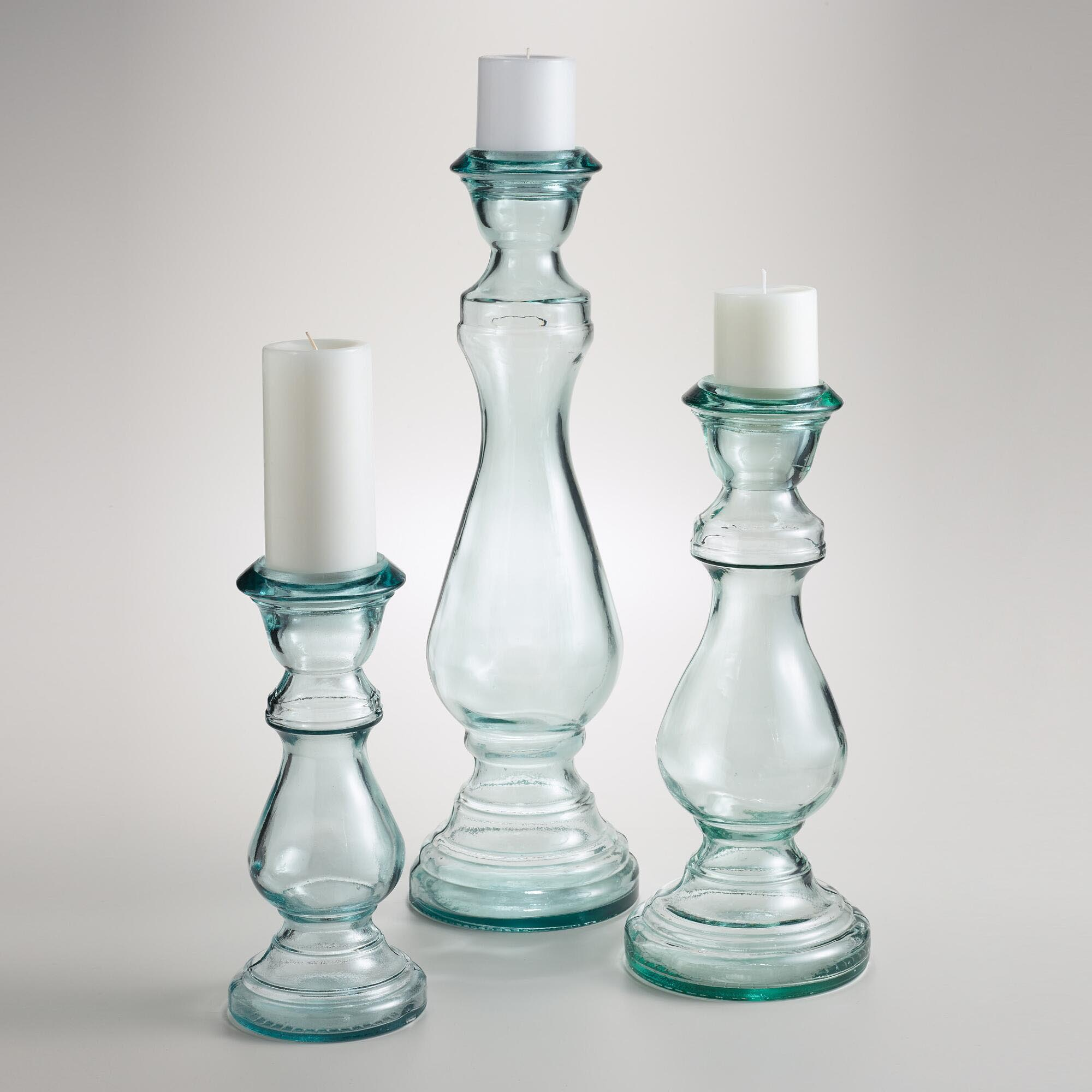 Hurricane Pillar Candle Holders