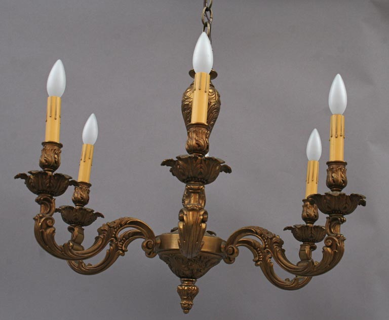 Large Antique Brass Chandeliers
