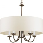 Large Drum Shade Chandelier