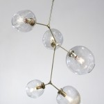 Large Glass Globe Chandelier