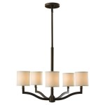 Linen Drum Shade Chandelier