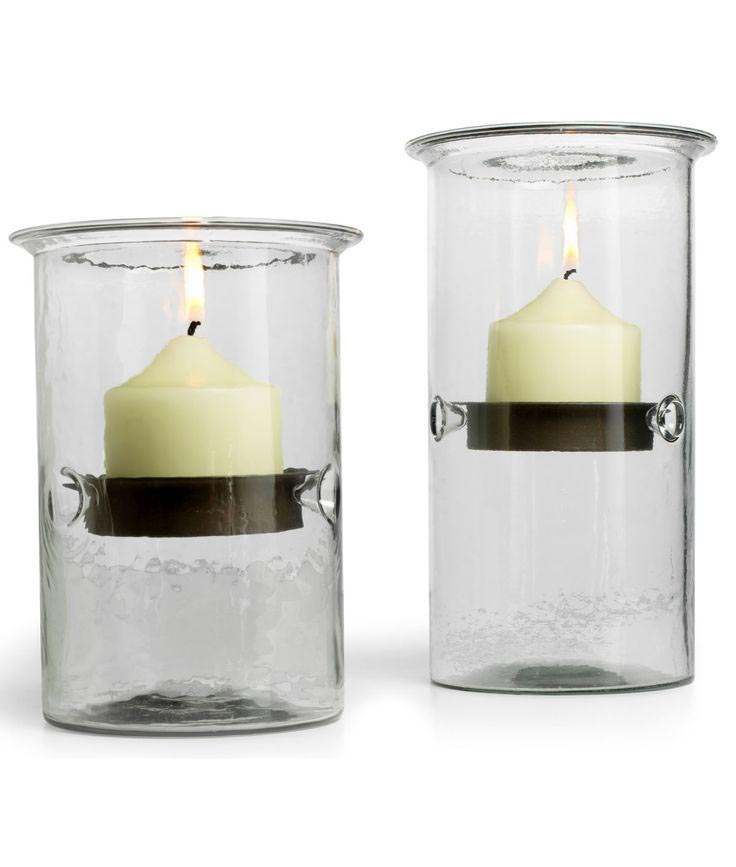 Metal Hurricane Candle Holders