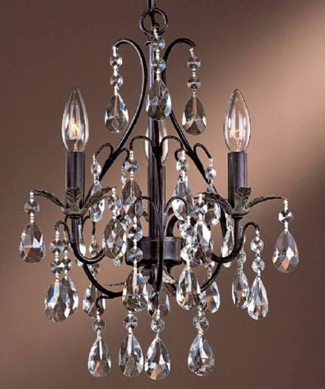 Mini Chandeliers with Crystals