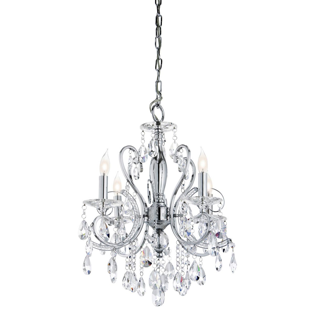 Mini crystal chandeliers for bathroom light fixtures for Small chandeliers for bathrooms