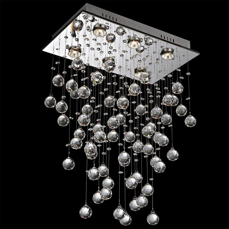 Modern Crystal Chandelier Rectangular