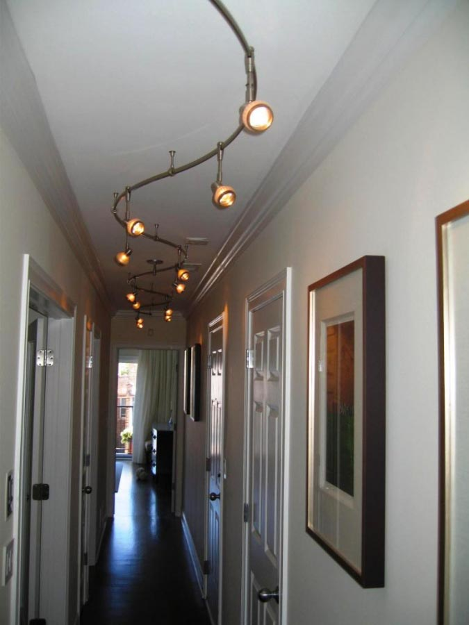 Modern Light Fixtures Hallway