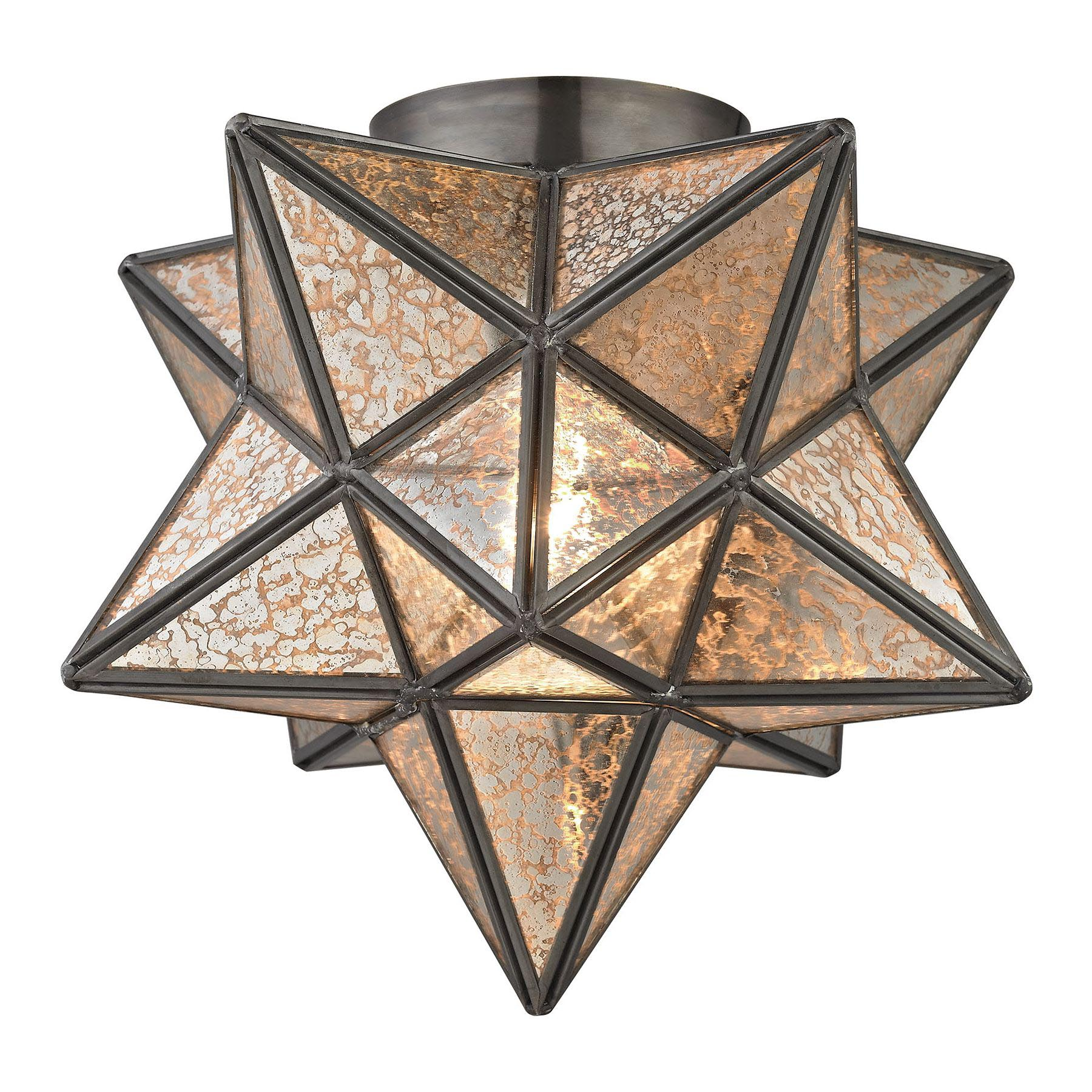 Moravian Star Flush Mount Ceiling Light