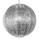 Moroccan Ceiling Light Silver