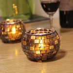 Mosaic Hurricane Candle Holders