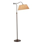 Ore International 5 Arm Arch Floor Lamp White