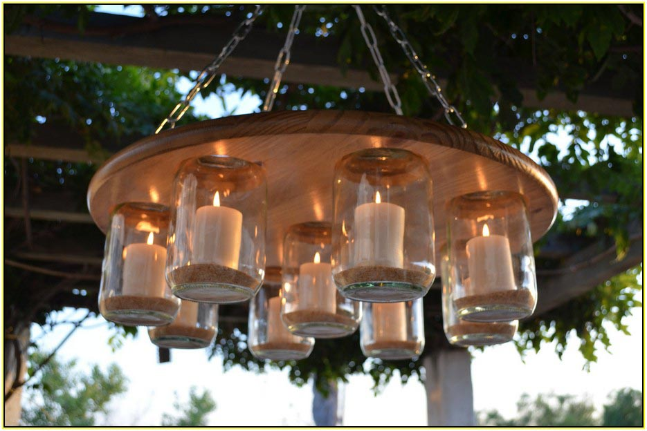 Outdoor candle chandelier non electric light fixtures Hanging candle chandelier non electric