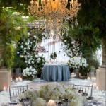 Outdoor Chandelier with Flameless Candles