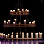 Outdoor Pillar Candle Chandelier