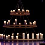 Outdoor Pillar Candle Chandelier