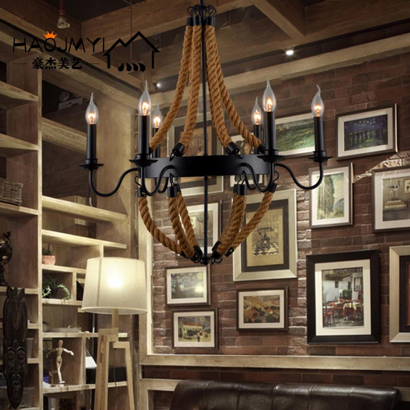 Outdoor Wrought Iron Candle Chandelier