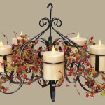 Pillar Candle Chandelier DIY