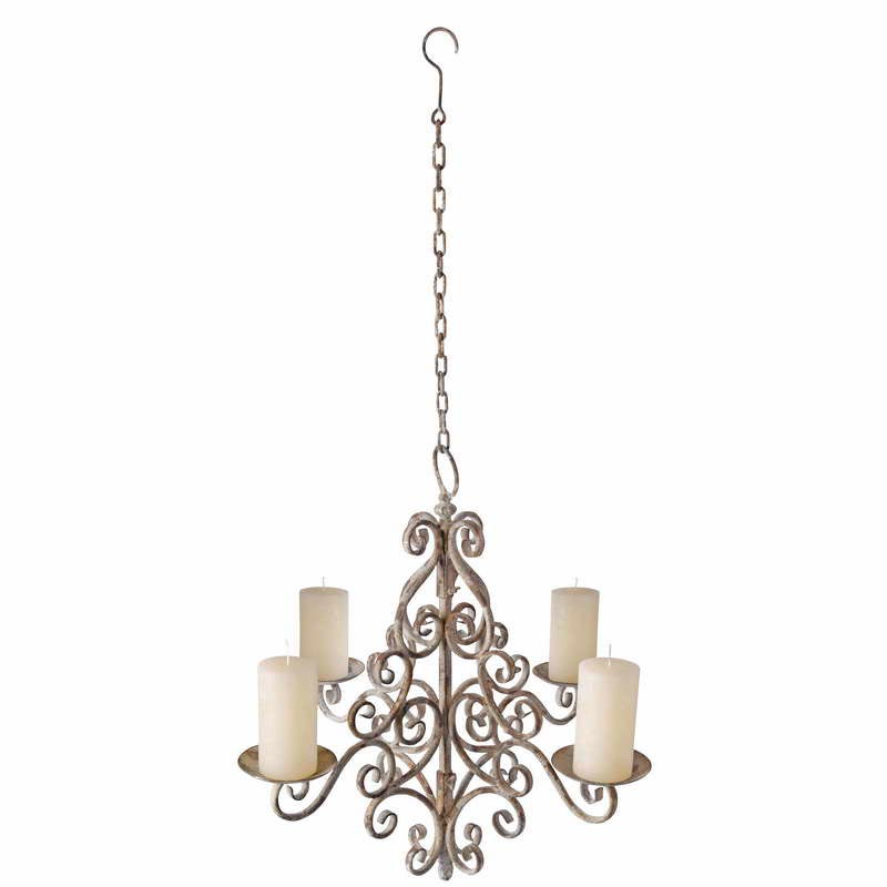 Pillar Candle Chandelier Electric