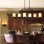 Pillar Candle Chandelier Rectangular