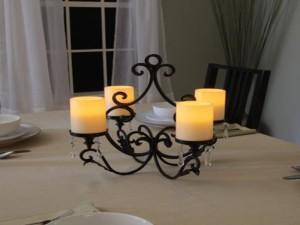 Pillar Candle Rectangular Small Chandelier