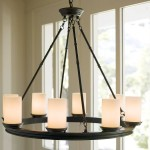Pillar Candle Round Chandelier