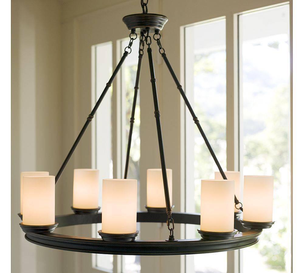 Pillar Candle Round Chandelier Light Fixtures Design Ideas