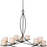 Pillar Candle Round Large Chandelier