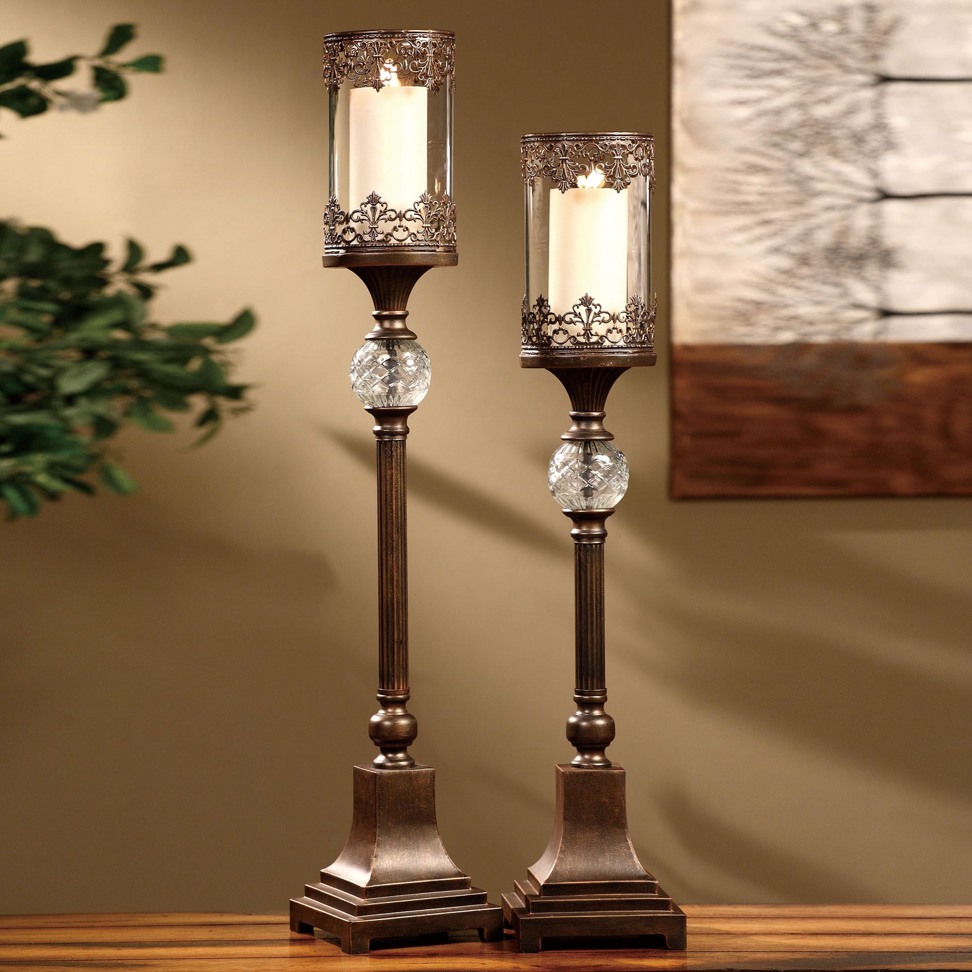 Pillar Hurricane Candle Holders