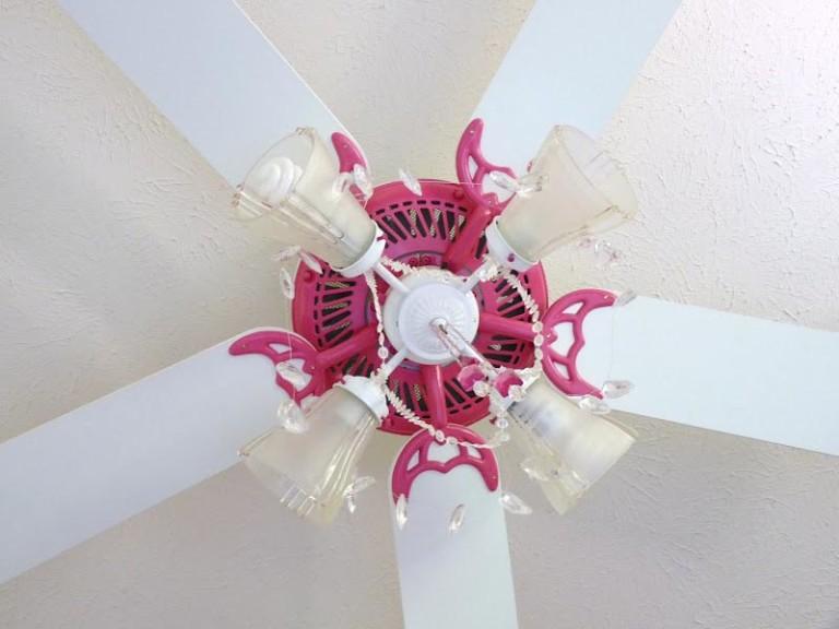 Pink Chandelier Ceiling Fan