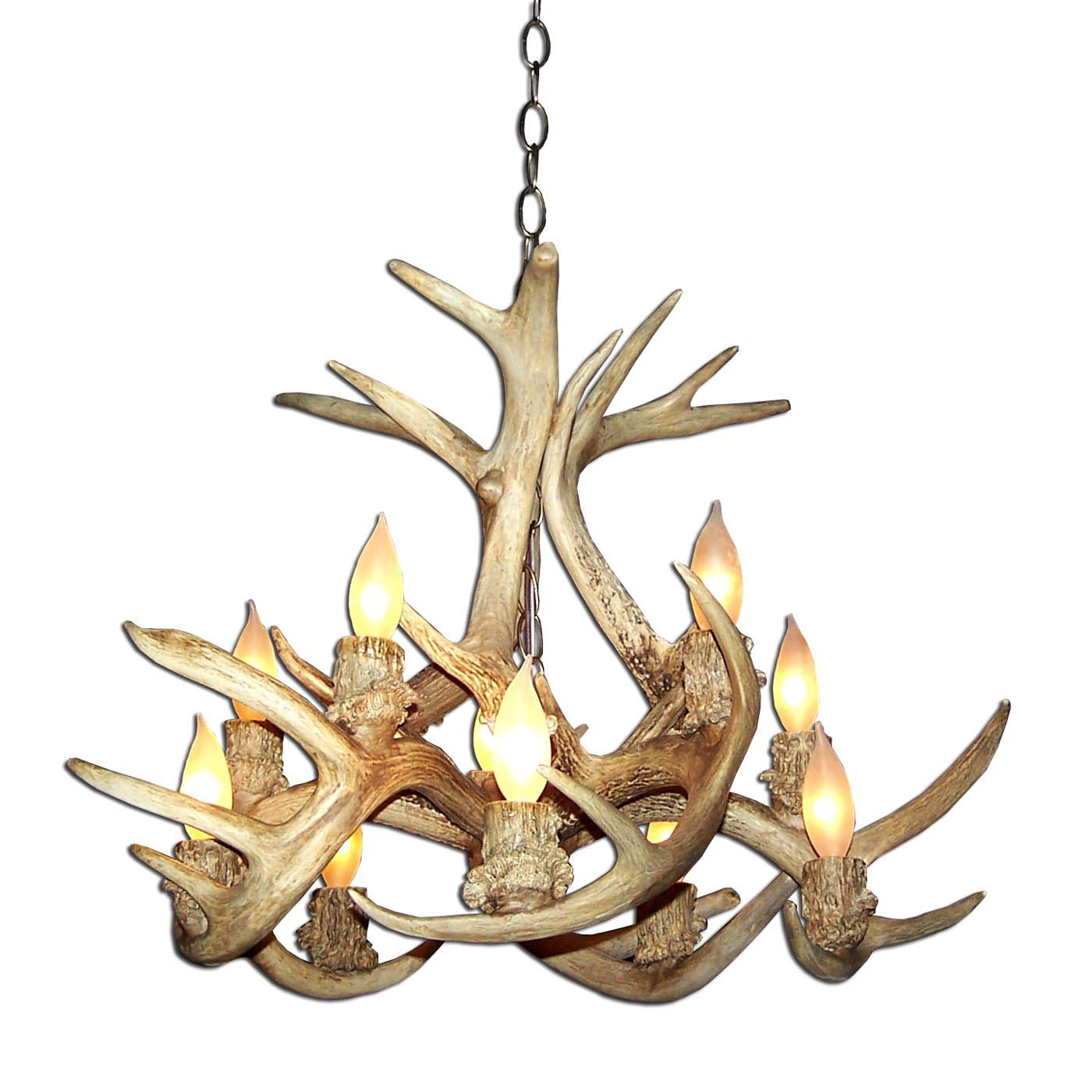 Real Deer Antler Chandeliers