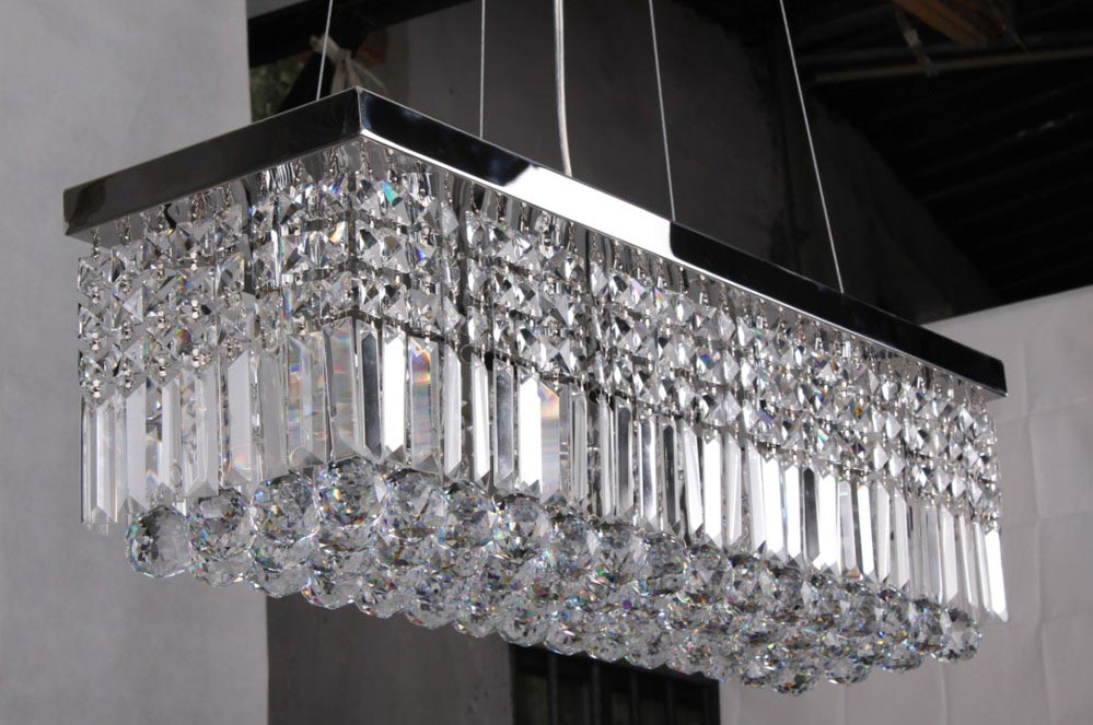 Rectangular Crystal Chandelier Lighting