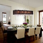 Rectangular Shade Chandelier with Crystals
