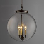 Replacement Glass Globe for Outdoor Chandelier