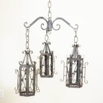 Rustic Outdoor Candle Chandelier