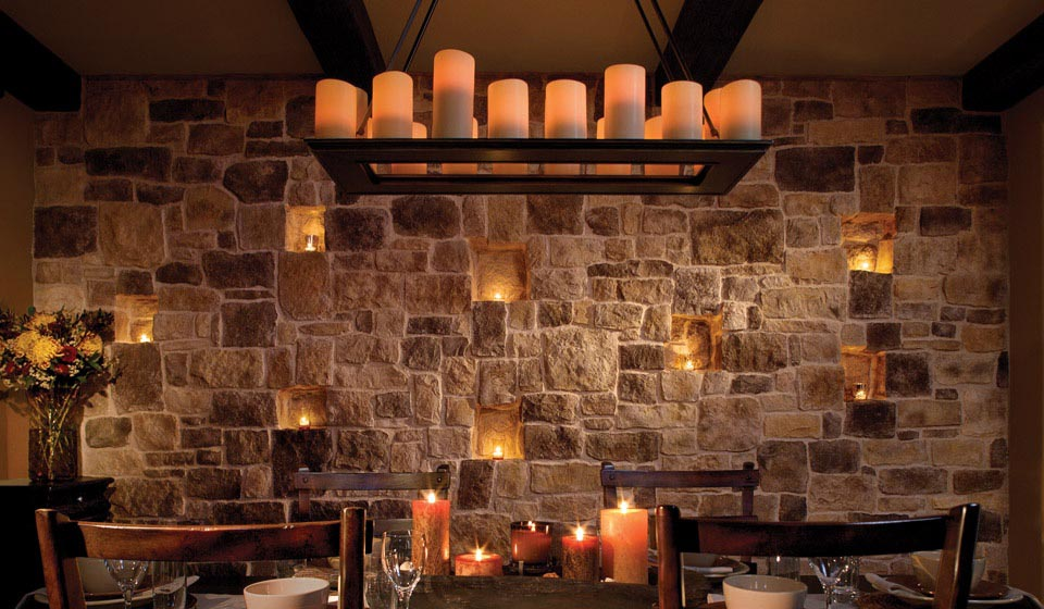 Rustic Pillar Candle Chandelier