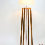 Rustic Wood Floor Lamp