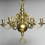 Small Antique Brass Chandelier